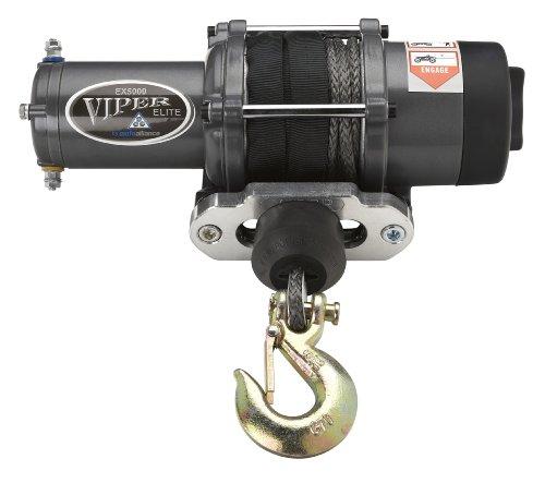 Viper Elite 5000Lb Utv Winch & Custom Mount For Polaris Ranger Models (Please See Fitment) With Black Amsteel®-Blue Synthetic Rope