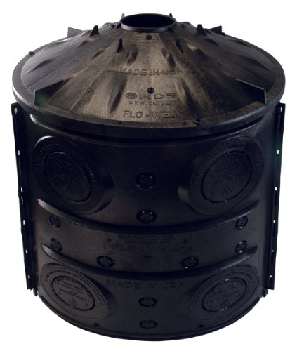 NDS FWAS24 24-Inch by 28.75-Inch Flo-Well Dry Well Storm Water Leaching System, Black