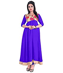 My online Shoppy Women's Georgette Semi Stitched Dress Material (My online Shoppy_115_Purple_Free Size)