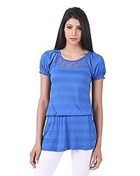 Juelle Women's Blended Blue Top