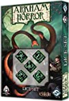 Black Green Arkham Horror Dice Set of 5
