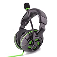 buy Einskey H031 Series Virtual 7.1 Surround Sound Gaming Headphone / Headset With Vibration Effects (Black/Green)