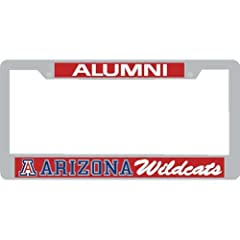 Buy Arizona Wildcats Alumni Metal License Plate Frame W domed Insert - Red Background by Stockdale