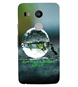 ColourCraft Inspirational Quote Design Back Case Cover for LG GOOGLE NEXUS 5X