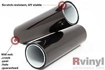 【LIGHT VINYL 】300MM X 1000MM Smoked Fog Light Headlight Tint Film Wrap Sheet