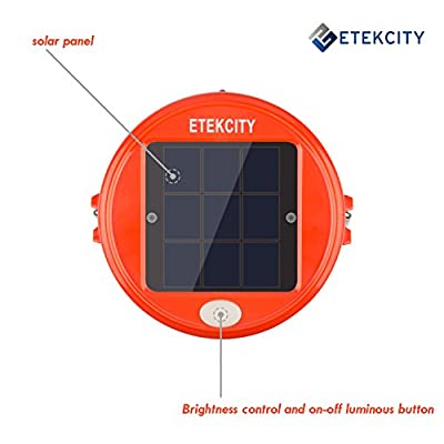 Etekcity Rechargeable LED Outdoor Solar Camping Lantern (Orange)