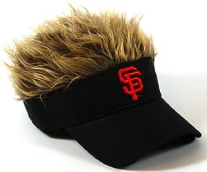 MLB San Francisco Giants Flair Hair Adjustable Visor, Black