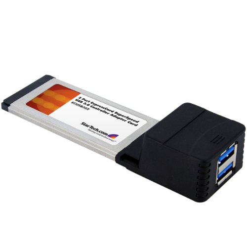StarTech.com ECUSB3S2 Carte Adaptateur ExpressCard/34 vers 2 Ports USB 3.0 SuperSpeed 1x ExpressCard 34 2x USB 3.0 A Femelle