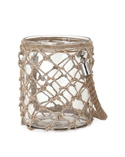Small Luca Glass & Jute Lantern
