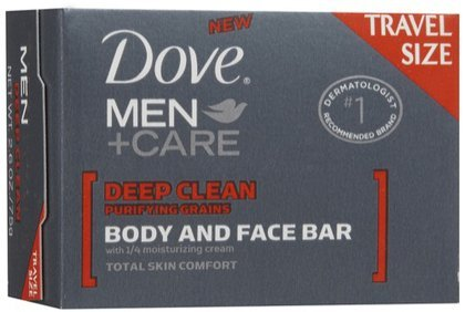 Dove Men +Care Body & Face Bar, Deep Clean, 2.6 oz, Travel Size, Deep Clean, 2.6 (Quantity of 6)