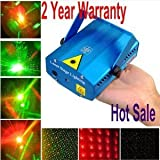 TSSS® Mini Mixed Red & Green Stroboflash HolographicStage Lighting Hot R&G DJ Disco, 24 months warranty