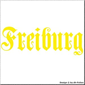 cartattoo4you AH-00662 | FREIBURG - Fraktur / Altdeutsche Schrift | Autoaufkleber Aufkleber FARBE citrus , in 23 weiteren Farben erhältlich , glänzend 57 x 20 cm in PREMIUM - Qualität Waschstrassenfest VERSANDKOSTENFREI