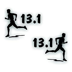 Marathon olympic mile running decal man boy for 13 1 window sticker