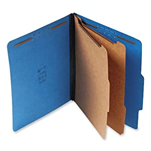 S J Paper S60403 S J Paper Expanding Classification Folder, Letter, 6-Section, Cobalt Blue, 15/Bx