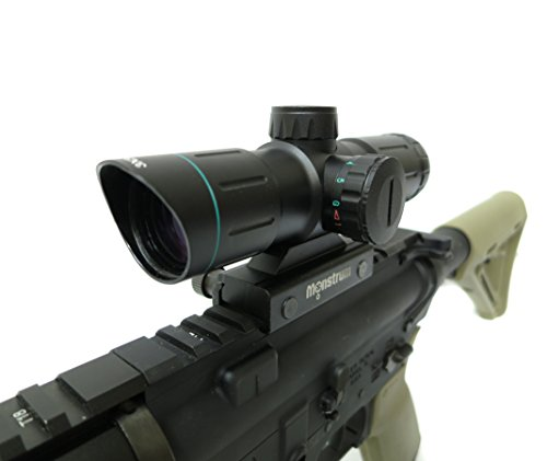 Monstrum Tactical 3x30 Rifle Scope with Illuminated Range Finder Reticle
