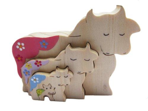 Cheap Patricia Avenue Handmade Artisan Organic Decorative Toy – Cow Family I (Hand-painted) (B004EHRYY0)