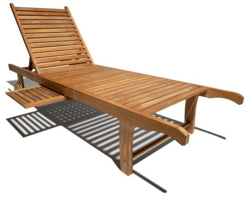 Strathwood Teak Chaise Lounge