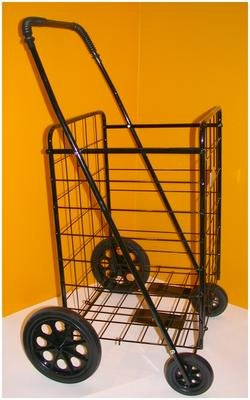 Jumbo Folding Shopping Cart - Black (Black Cart)