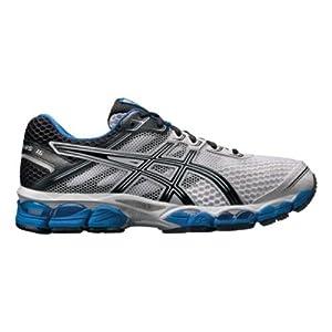 ASICS Men's GEL-Cumulus 15 Running Shoe,White/Black/Royal,10.5 M US