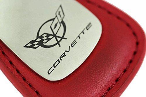 dantegts-chevrolet-chevy-corvette-c5-goutte-chaine-cle-en-cuir-porte-cles-rouge