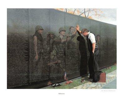23x30 Vietnam Reflections War Memorial Poster Fine Art Print by Lee TeterB0000W5D2I