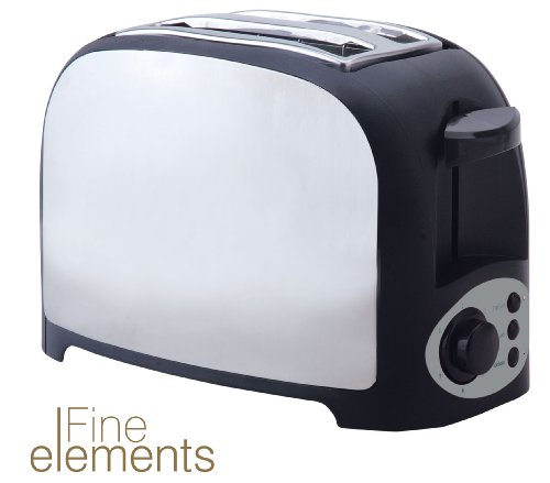 Fine Elements SDA45 Two Slice Toaster, Stainless Steel by Fine Elements