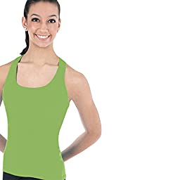 Body Wrappers Prowear Racerback Pullover Top, Radiant Green, 8-10