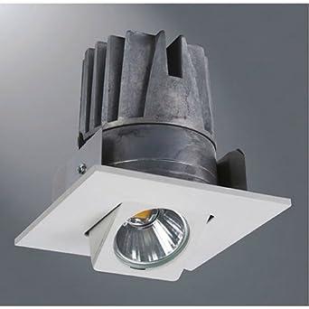 halo 4 led adjustable square 4000k gimbal recessed light fixture. Black Bedroom Furniture Sets. Home Design Ideas