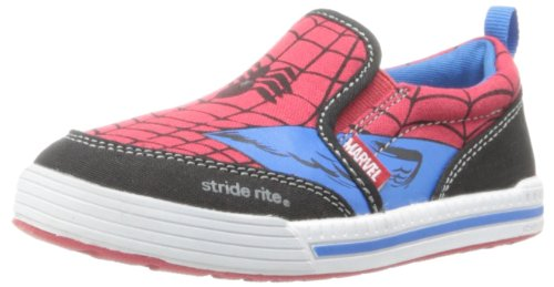 Stride Rite Spider-Man Slip-On Sneaker (Toddler/Little Kid),Red/Blue,11 M Us Little Kid