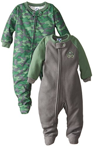 Gerber Baby-Boys Infant 2 Pack Blanket Sleeper, Green/Gray Camo, 18 Months front-258465