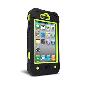 iFrogz BullFrogz Case for iPhone 4 - 1 Pack - Retail Packaging - Green/Black