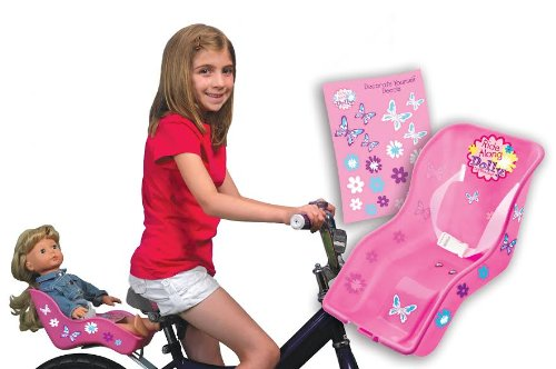 Doll-Bicycle-Seat-Ride-Along-Dolly-Bike-Seat-with-Decorate-Yourself-Decals-Fits-American-Girl-and-Standard-Sized-Dolls-and-Stuffed-Animals