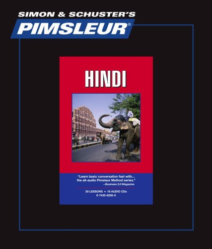 Hindi, Comprehensive: Learn to Speak and Understand Hindi with Pimsleur Language Programs (Simon & Schuster's Pimsleur)