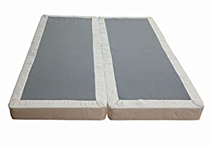 continental sleep 5 inch mattress foundation split box spring queen. Black Bedroom Furniture Sets. Home Design Ideas