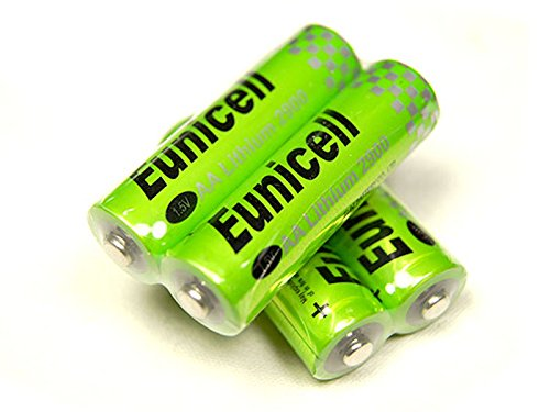 Lot de 4 Piles AA lithium Eunicell 1.5V LR06 2900Mah