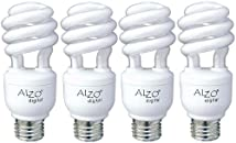 Alzo Joyous Light 15W Full Spectrum Compact Fluorescent Cfl Light Bulbs - Pack Of 4 - 5500K- Daylight Pure White Light