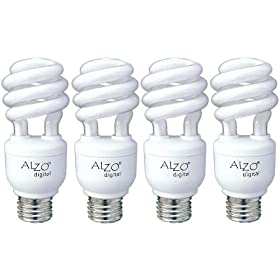 ALZO Joyous Light 15W CFL Light Bulb 5500K - Pack of 4