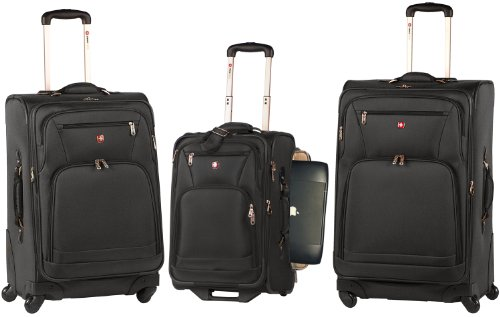 Wenger Swiss Army Turin Collection 3 Piece Luggage Black Feature