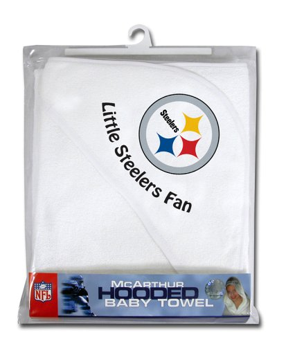 Pittsburgh Steelers Hooded Baby Towel (White)