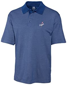 MLB Los Angeles Dodgers Mens Drytec Resolute Polo Knit Short Sleeve Top by Cutter & Buck