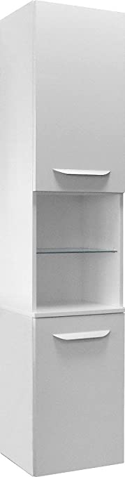 Fackelmann LAVELLA cupboard left, White High-Gloss White / High-Gloss / Bathroom