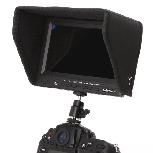 Koolertron 7 Inch On-camera 1080p Monitor With Battery (Hdmi Input & Output And Av Ypbpr Input & Output) For Raspberry Pi And Dslr (Canon Nikon Sony Olympus Panasonic Pentax) /video Camera Camcoder Canon 550d 500d 600d 1100d 60d 50d 40d 5d 5dii 5diii Niko