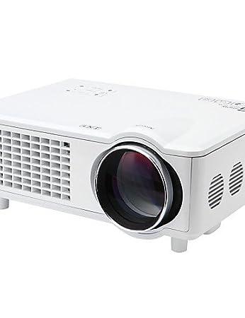 snbole® Mini LED projecteur professionnel de cinéma maison 3D 3000 lumens 1280x800 1080p entrée vga usb sd hdmi t928 , white