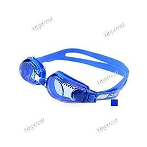 PC Silicone Anti-fog Waterproof Soft Elasticity Swimming Goggles NRA-186078 - Black