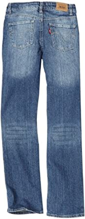 Levi's Big Girls' Regs 1265 Slim Straight Jean, Paperdoll, 12 Regular