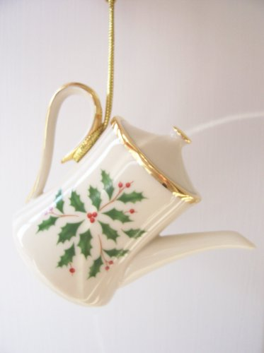 Lenox Holiday Coffee Pot Tree Ornament