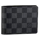 Authentic Louis Vuitton LV Damier Graphite Canvas Multiple Wallet Black/Grey (Color: Black/Gray, Tamaño: 3.5