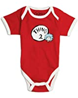 Bumkins Unisex-baby Newborn Dr. Seuss Thing 2 Short Sleeve Bodysuit