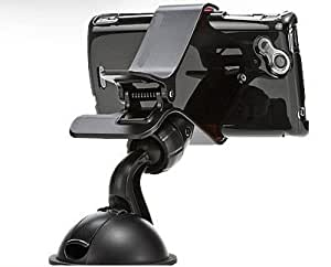 Universal Dashboard Windshield Car Mount Holder for Smart Phones, Apple iPhone 5, iPhone 4 / 4S,Samsung Note2(Black)