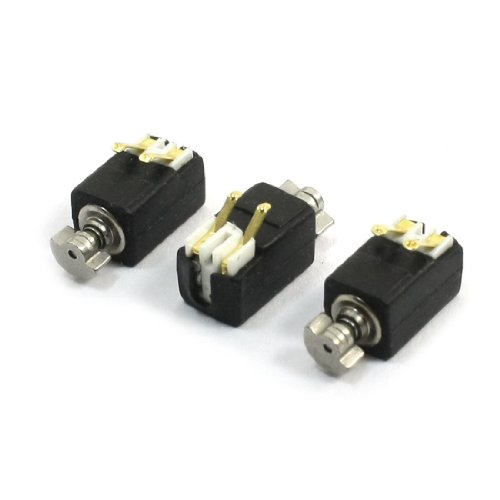 3 Pcs 1400RPM Speed 3V Mobile Phone Micro DC Coin Vibration Motor from uxcell